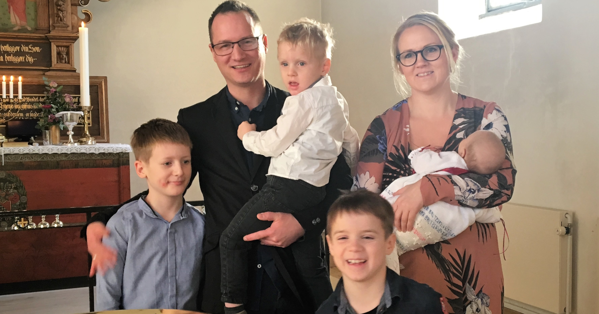 Maja, Bo og deres 4 børn