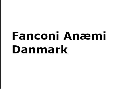 Fanconi Anæmi Danmark