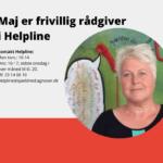 Mød Maj der er frivillig i Helpline